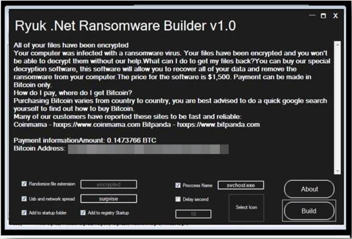 Ransomware Builder GUI